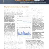 Employment Summary for March 2013