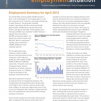 Employment Summary April 2013
