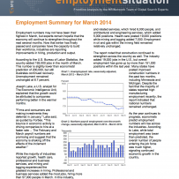 Employment Summary for March 2014