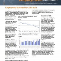 Employment Summary for June 2014